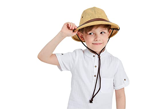 719db47b1486c kainozoic Pith Helmet Kids Costume Halloween Party Hat Biking Hiking Jungle  Explorer Camping Pithe Cap