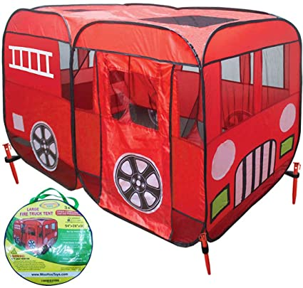 Large Children Fire Engine Truck Pop-Up Playhouse Play Tent (with Step) At  sc 1 st  Amazon.com & Amazon.com: Large Children Fire Engine Truck Pop-Up Playhouse Play ...