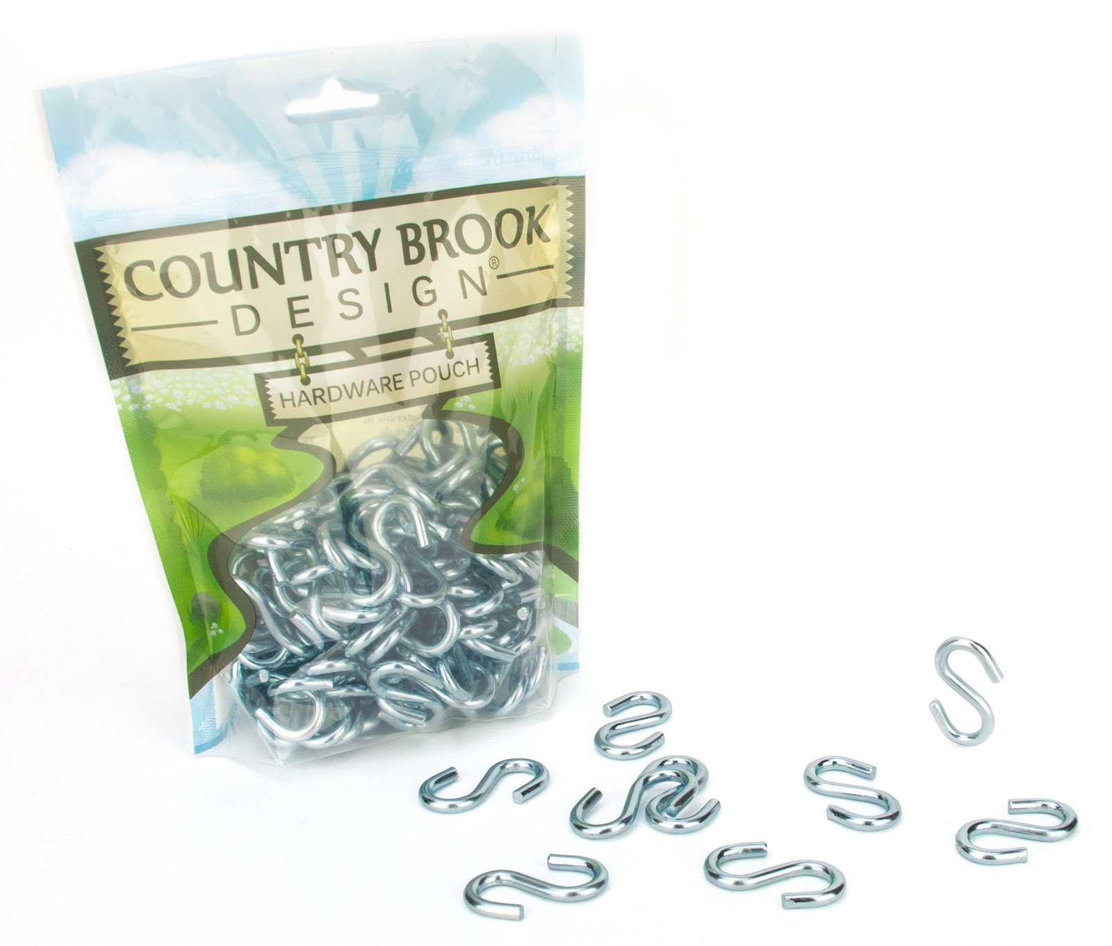 100 - Country Brook Design 1 3/8 Inch Steel S-Hooks