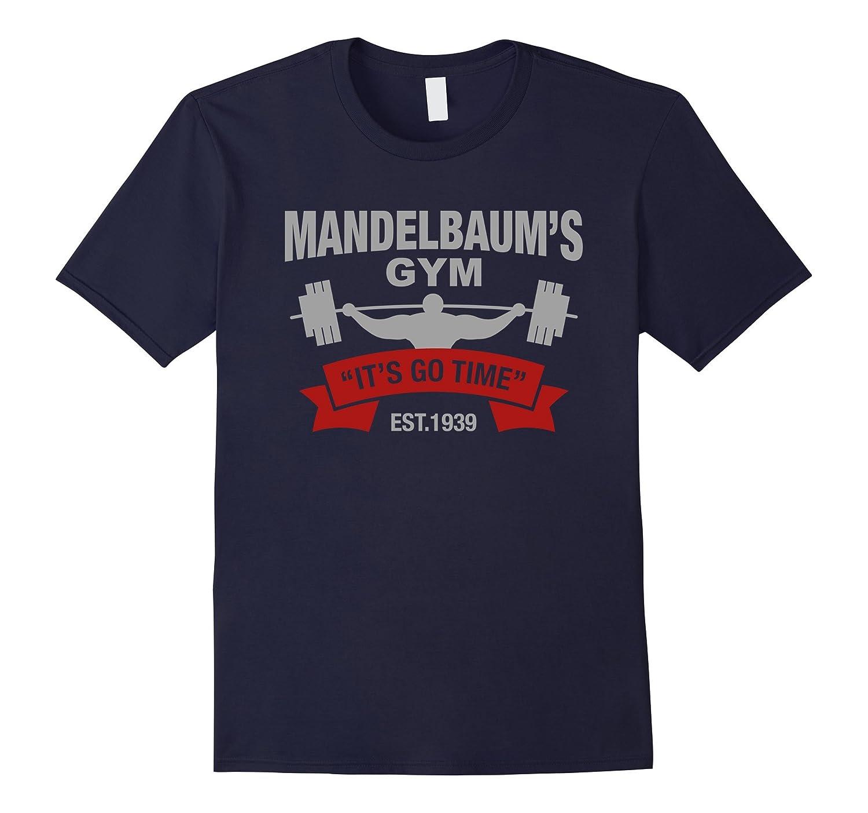 Mandelbaums Gym Its Go Time EST1939 Gym Gray T-shirt-Vaci
