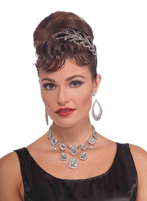 1950s Jewelry Styles and History Forum Novelties Vintage Hollywood Rhinestone Necklace $11.65 AT vintagedancer.com