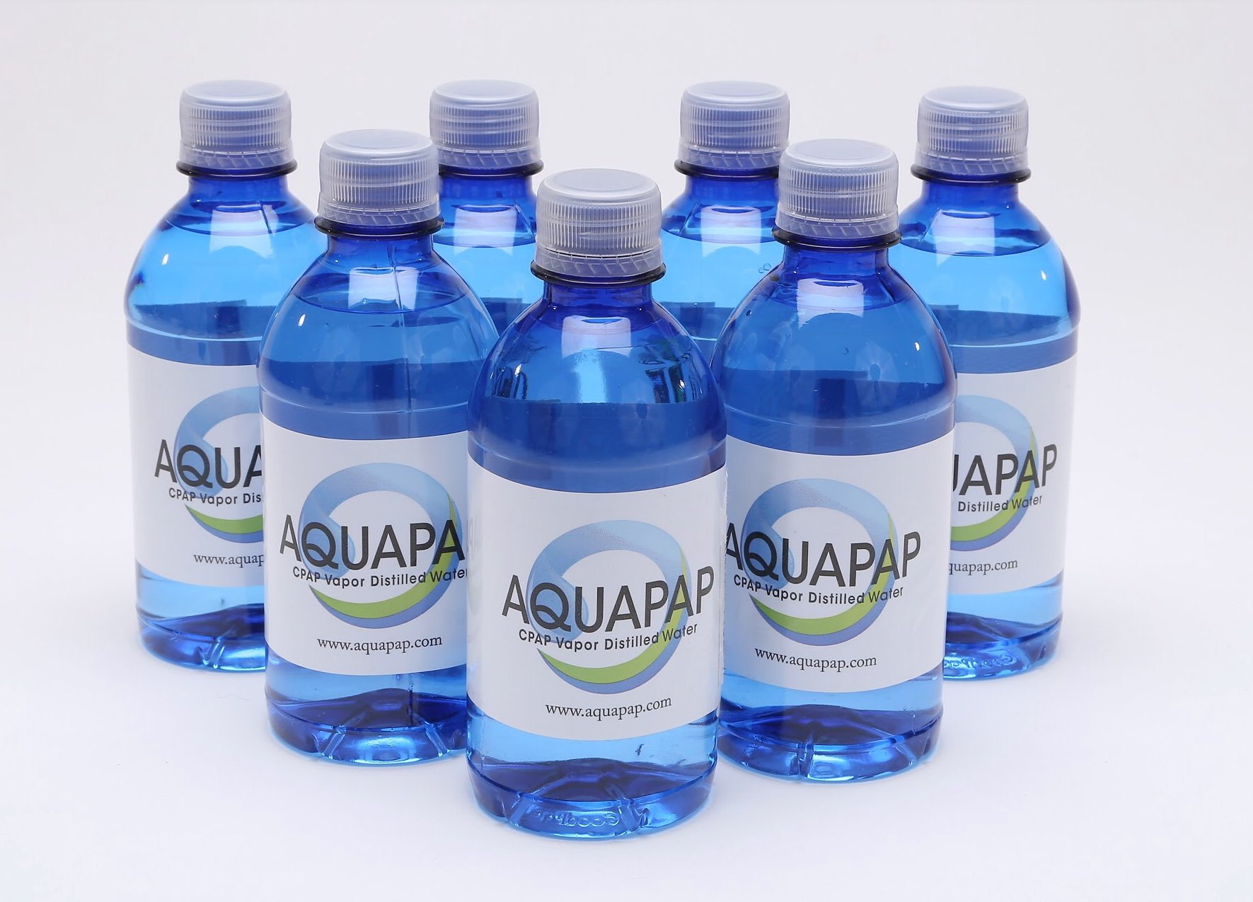 Aquapap CPAP water 7 x 12 ounce bottles 1 week supply by Aquapap