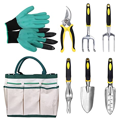Merveilleux Gardening Tools Garden Tools Set 8 Pieces Gardening Hand Tools With  Ergonomic Handles Included Trowel Transplanter