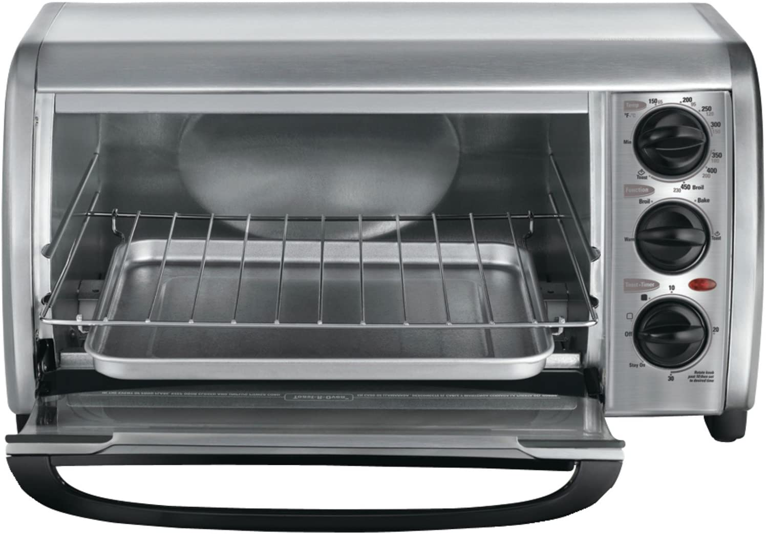 Black & Decker Black & Decker TO1491S-2 4-Slice Toaster Oven