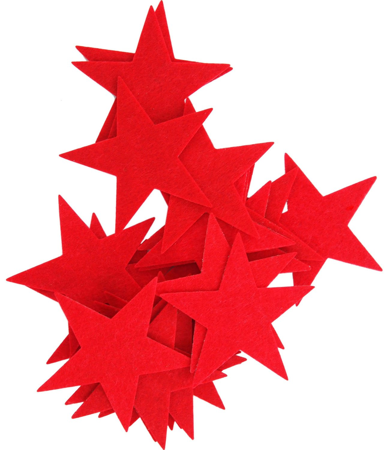Playfully Ever After 3 Inch Red 22pc Felt Star Stickers PEA-FELT-3inStickyStar-22Red