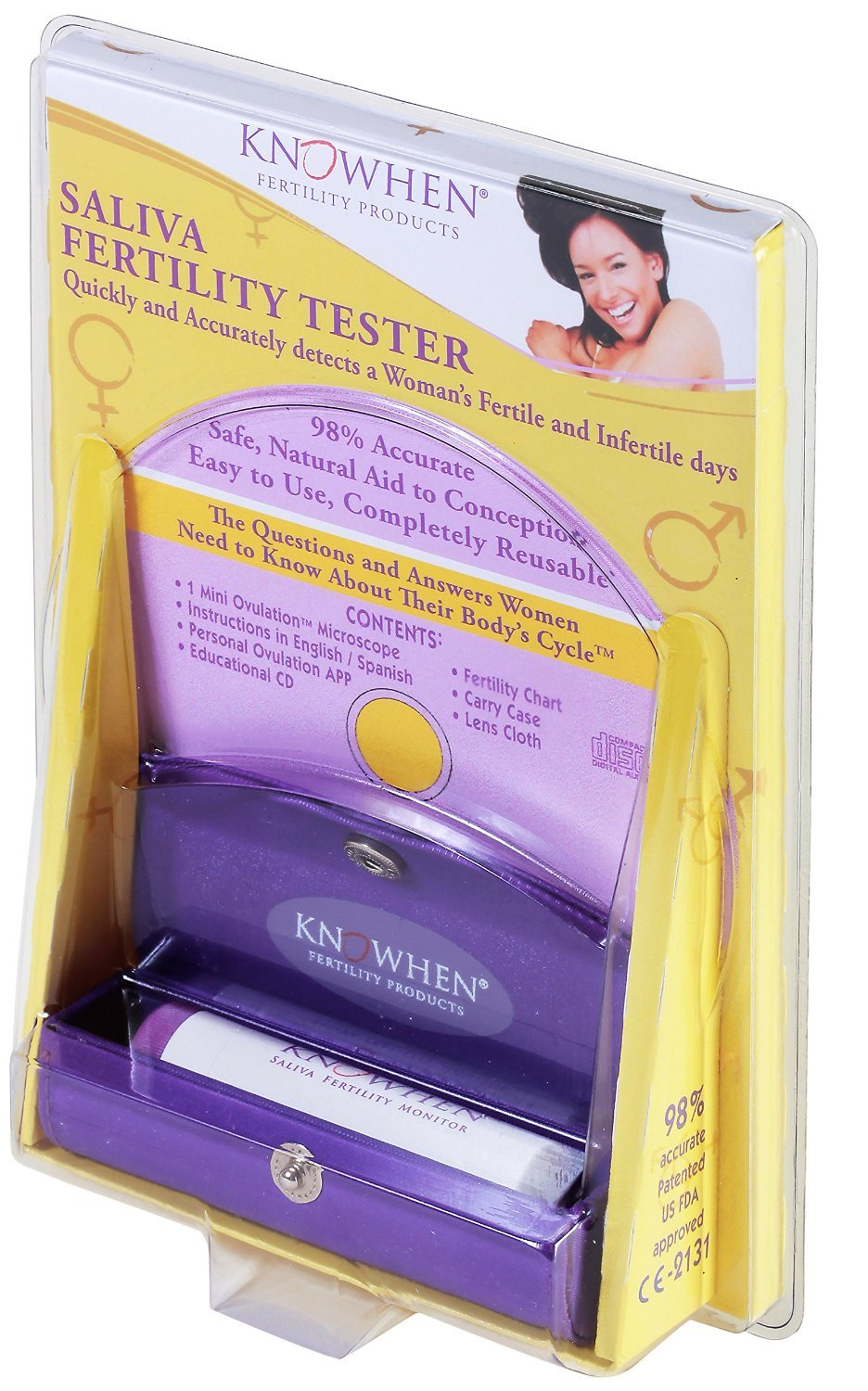 KNOWHEN Saliva Ovulation Test with a Fertility Monitor App