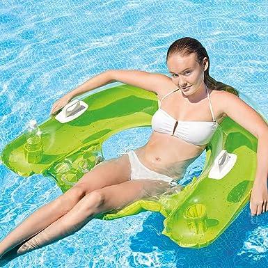 Amazon.com: Silla de agua flotante con soporte para taza ...