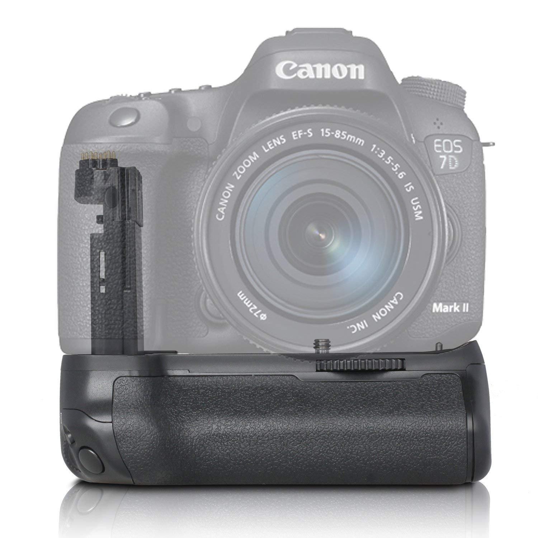 SAMTIAN BG-1U Replacement Canon 7d2 7DMark2 DSLR Camera as BG-E16 Battery Grip compatible with LP-E6 Battery or 6 Pieces AA Batteries by SAMTIAN