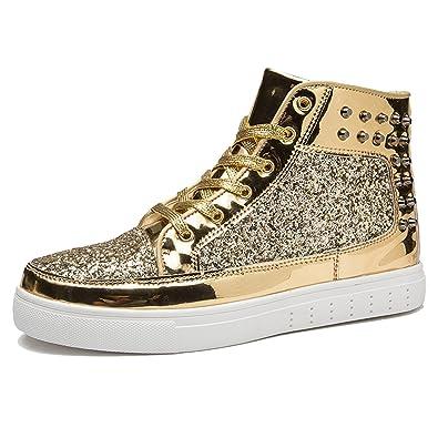 53339335f46 CHNHIRA Homme Chaussures Montantes Chaussure de Loisirs Couple Bottes Hip-hop  Femme Baskets Mode (