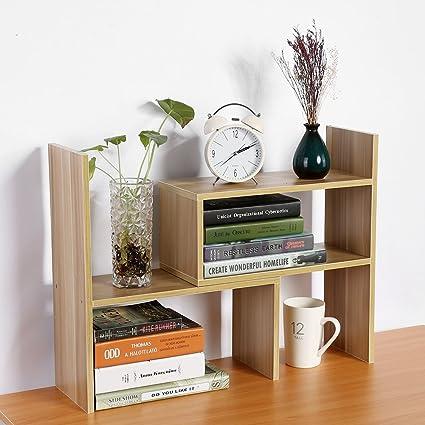 Estantería de escritorio, estantería de madera para manualidades, creativa, estantería de armario, estantería para