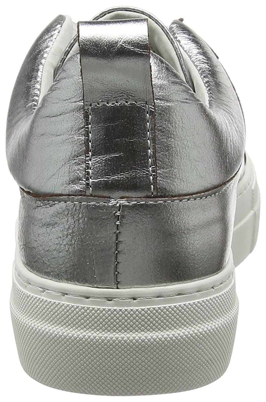 PIECES Damen Pspaulina Leather Leather Leather Silber Turnschuhe 033283