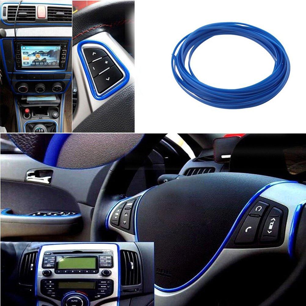 WINOMO banda de Garniture coche interior exterior decoraci/ón moldura l/ínea 5/m azul