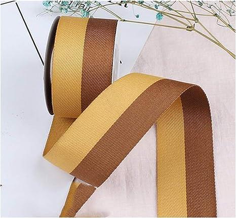Cinta de satén de sarga de 2 colores, 40 mm, 25 mm, 15 mm, hecha a mano, para bricolaje, lazo, cinta de algodón, accesorios de ropa, 5 m: Amazon.es: Juguetes y juegos