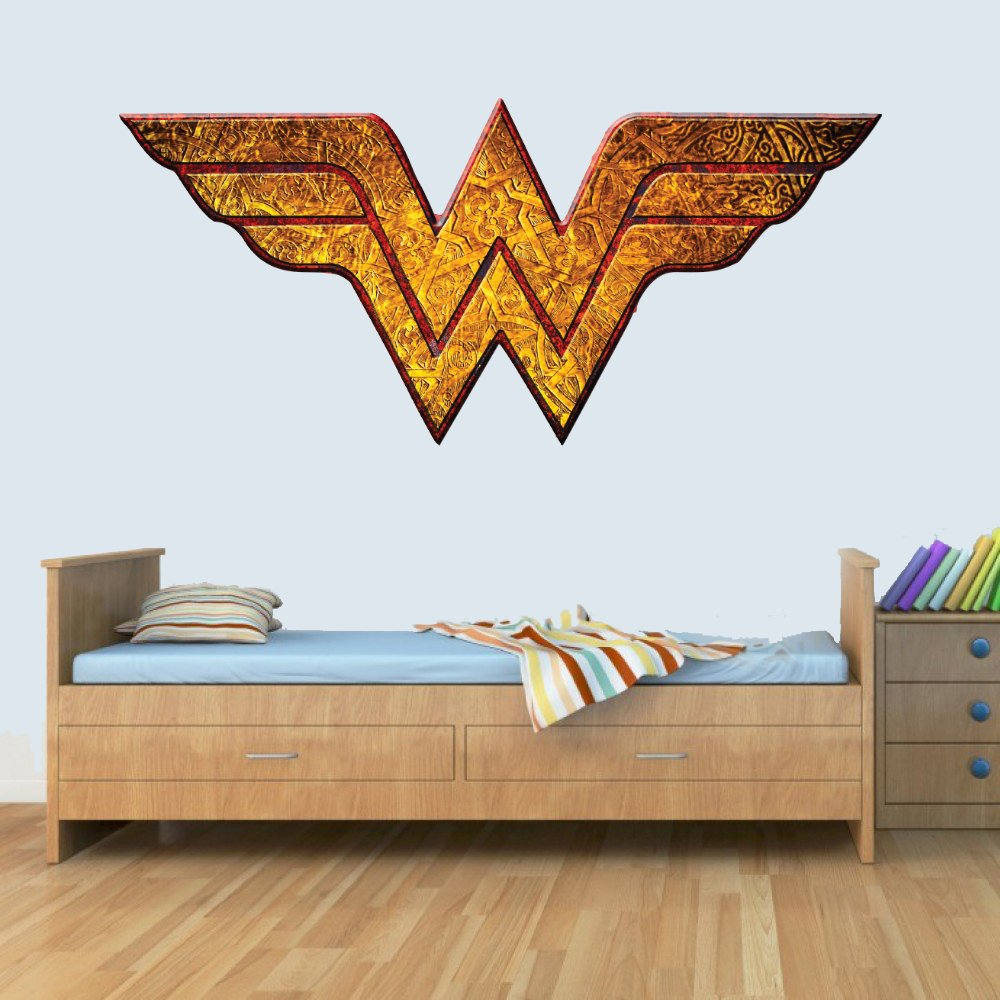 GNG Wonder Woman Childrens Wall Art Decal Vinyl Stickers Picture for Boys/Girls Bedroom L by giZmoZ n gadgetZ