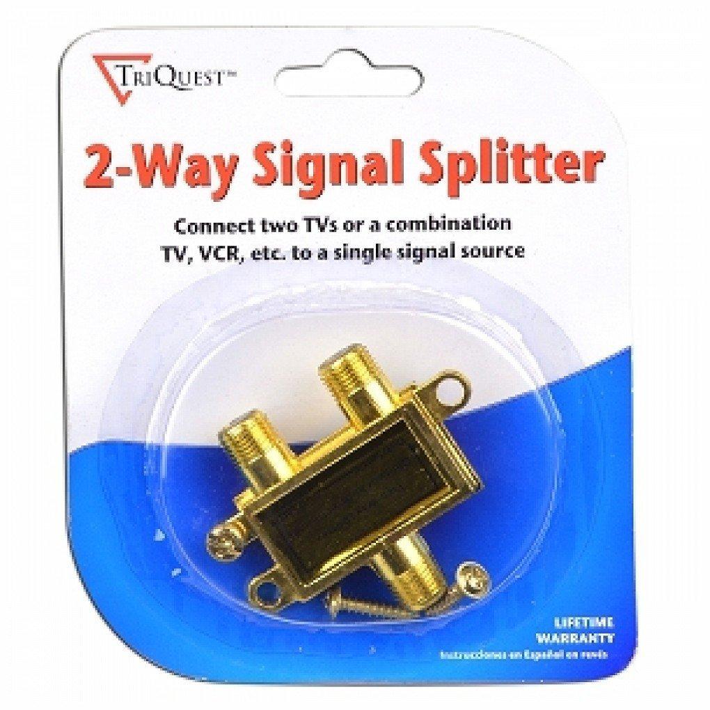 Amazon.com: TriQuest 5402-COAX-SPLITTER 2-Way Coaxial Cable Signal Splitter: Electronics