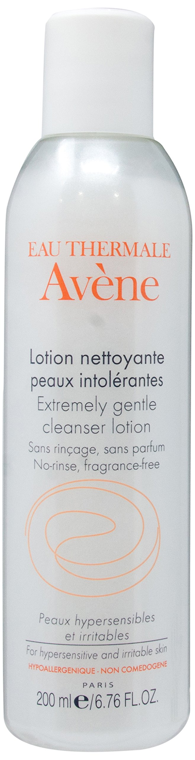 Eau Thermale Avene Extremely Gentle Cleanser Lotion, Face Wash for Sensitive Skin, Fragrance, Soap, Paraben, Oil, Soy, Gluten Free, 6.76 oz.