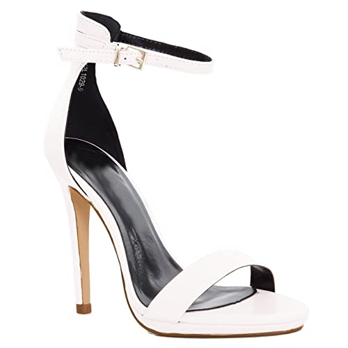 Scarpe donna saldali ecopelle cinturino tacchi alti eleganti nuovi K2L10299