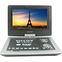 Maxbell Victor Crown 9.8 Inch Tft Swivel Portable Dvd Player With 3D Feature GameMp3UsbSd (Silver and Black)
