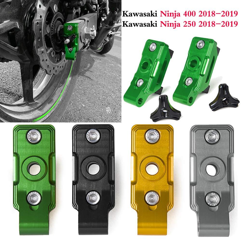 Accesorios de motocicleta Ninja400 Tensores CNC Catena Eje ...