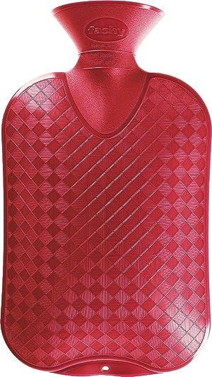 Fashy Hot Water Bottle Plain (Cranberry)