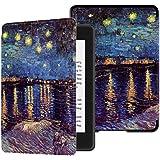 Capa para Kindle Paperwhite (aparelho à prova d`água) - rígida - sistema de hibernação - Noite Estrelada Sobre o Ródano (van