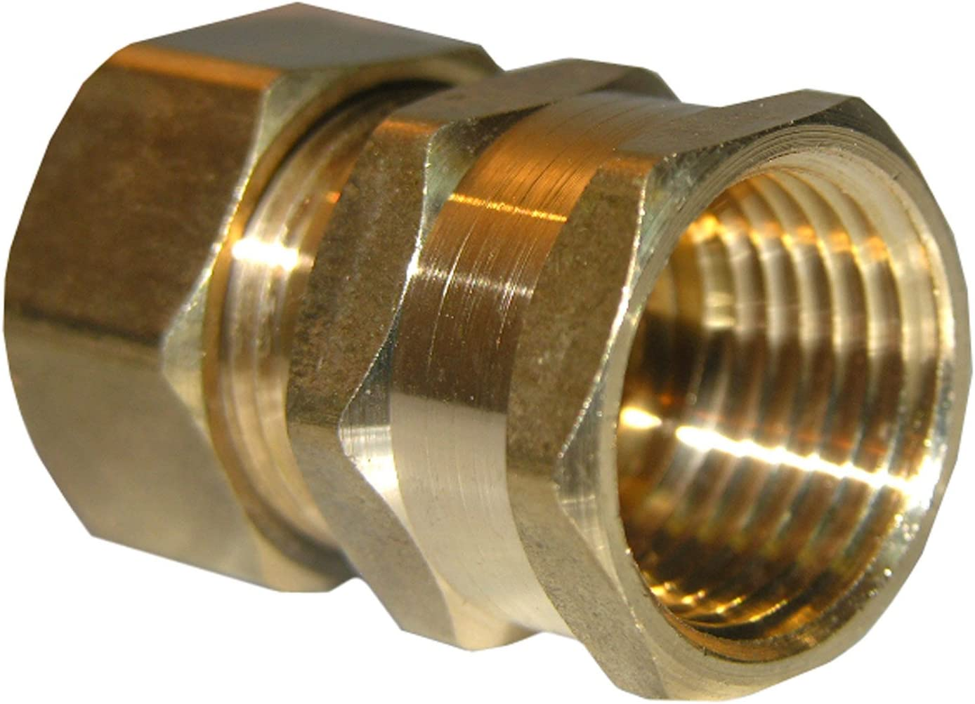 Midland 18-158LF Lead Free Brass Compression Female Adapter 1//2 Compression x 3//8 Female NPTF Thread