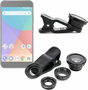 DURAGADGET Kit Lentes 3 EN 1 para Smartphone Xiaomi Mi A1: Amazon ...