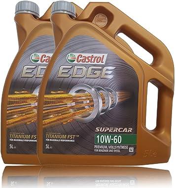 Castrol Edge Titanium Supercar Fsttm 10w 60 2x 5 L 10 Liter Auto