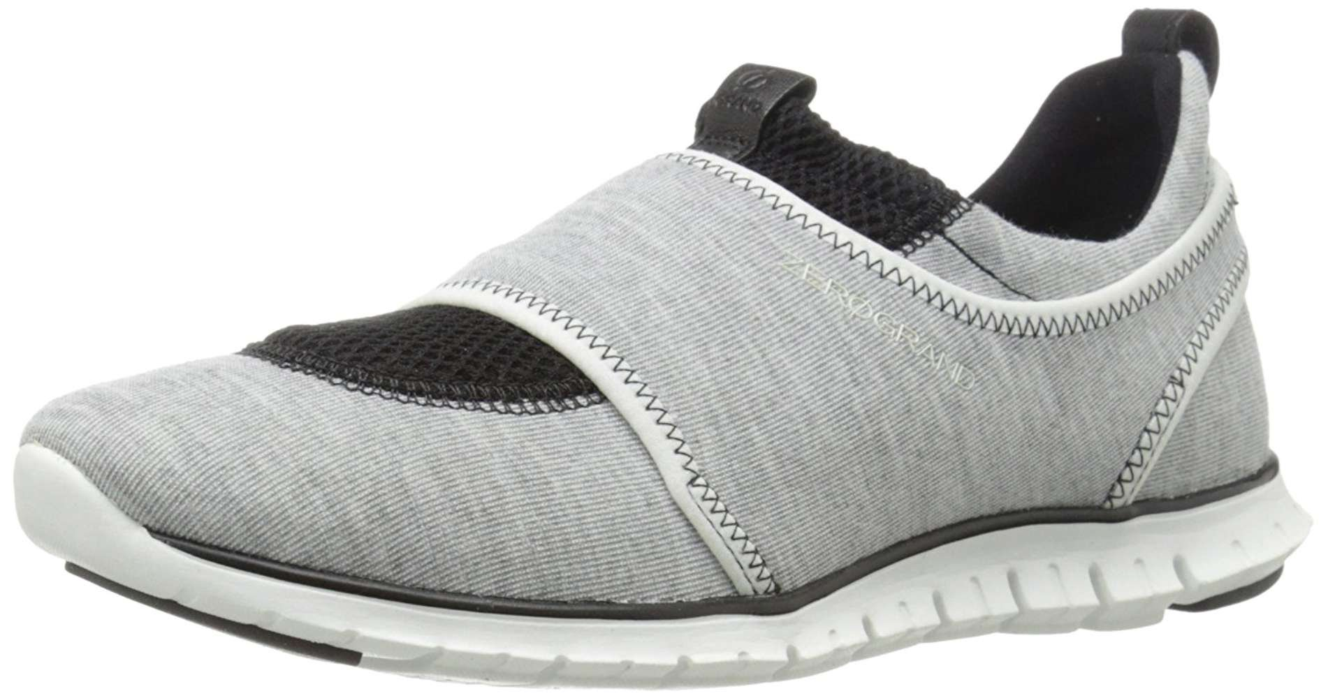 Cole Haan Womens Zerogrand Low Top Slip On, Grey/Optc.Whte/Blck, Size 6.0