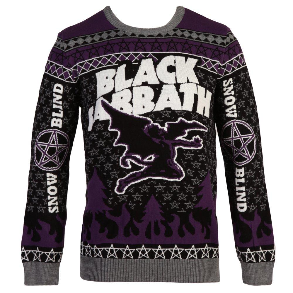 Black Sabbath Christmas Sweater.Black Sabbath Flying Demon Ugly Christmas Adult Sweater