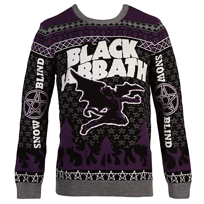 Black Sabbath Flying Demon Ugly Christmas Adult Sweater X Large