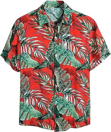 Shirts for Men Multicolor Lump Polo Blouse Short Sleeve Tops Casual Business Hawaiian Henley Shirt