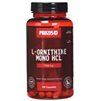 Prozis 100% Pure L-Ornithine 60 Capsules 1000mg - Promotes Human Growth Hormone Production and Prevent Muscle Catabolism - 30 Servings!