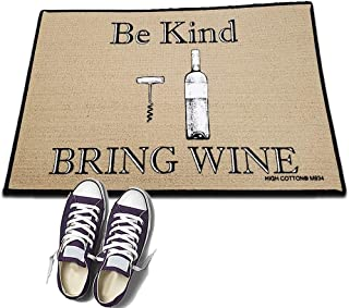 product image for Be Kind Bring Wine- HIGH COTTON Welcome Doormat