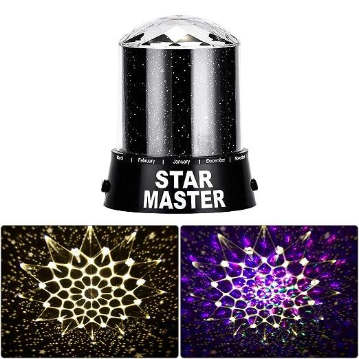Galapara Estrellas Proyector Luz - Proyecto En Las Paredes Y El ...