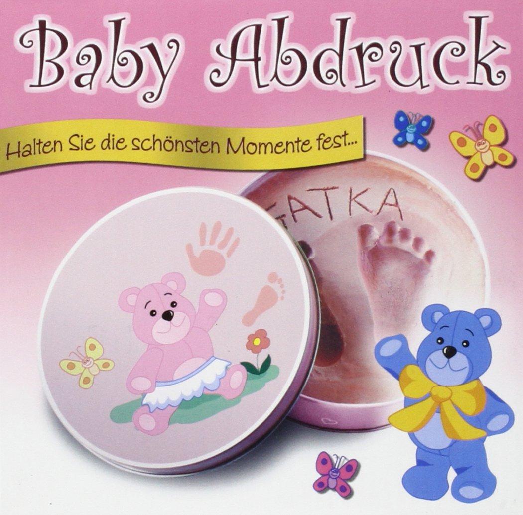 Baby-Gips-Abdruck für Mädchen in einer Geschenkdose: Halten Sie die schönsten Momente fest...