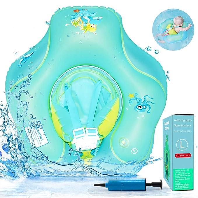 HUIYEA Flotador de Natación para Bebés, Anillo de Natación Bebé Juguetes de Piscina Niños Natación Anillo Cintura Flotadores inflables Entre 6 Meses-3 ...