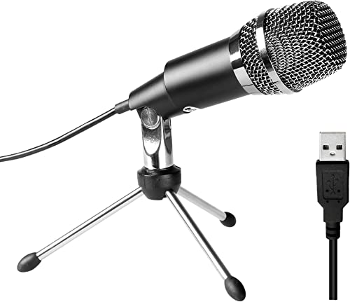 USB Microphone,Fifine Plug &Play Home Studio USB Condenser Microphone