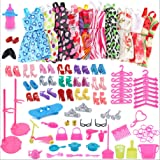 60 pezzi accessori per abiti da bambola baldoria per bambola Barbie (Casuale)
