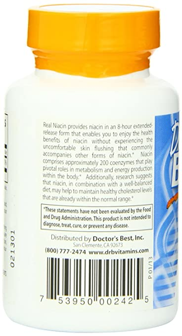 Amazon.com: Doctor's Best Real Niacin (Extended Release) (500mg ...