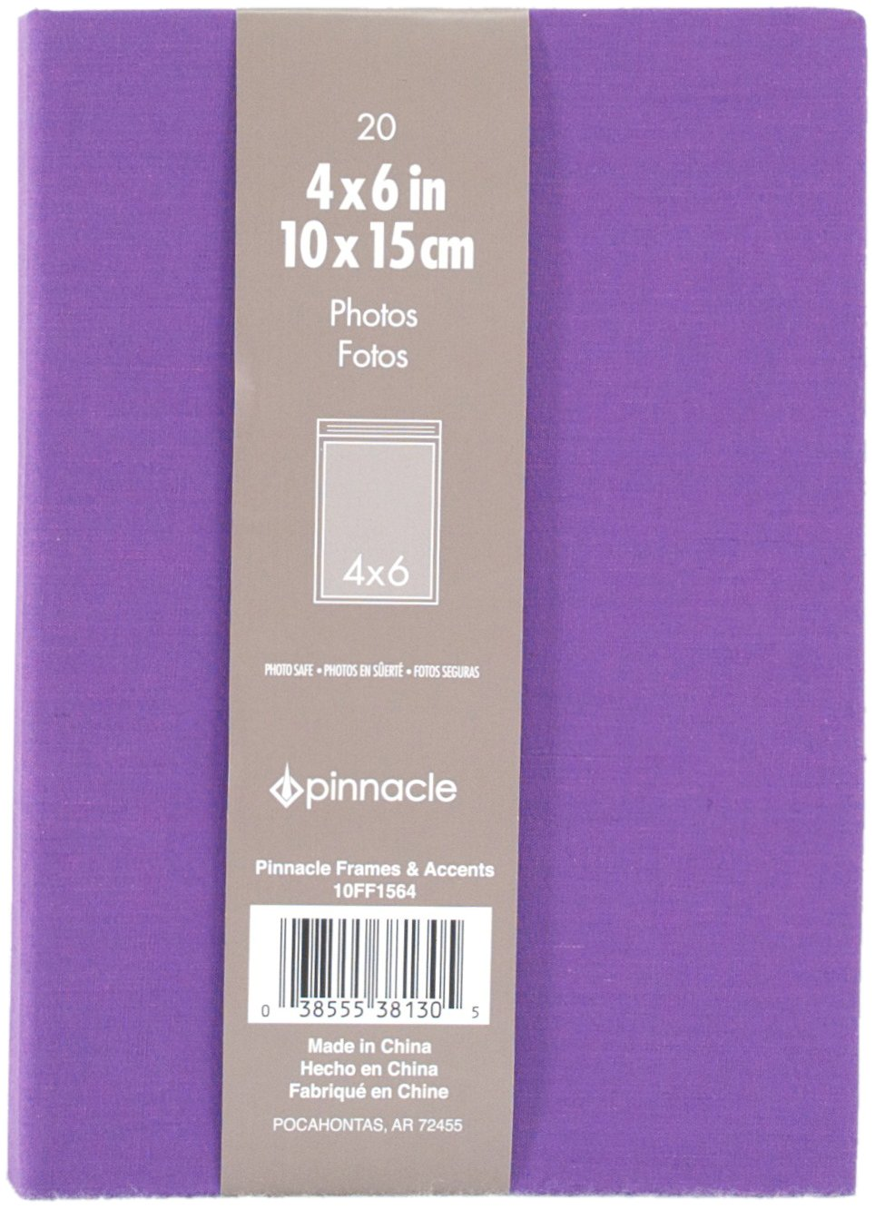 Amazon.com: Pinnacle Frames and Accents Purple Book Cloth 20-Pocket ...