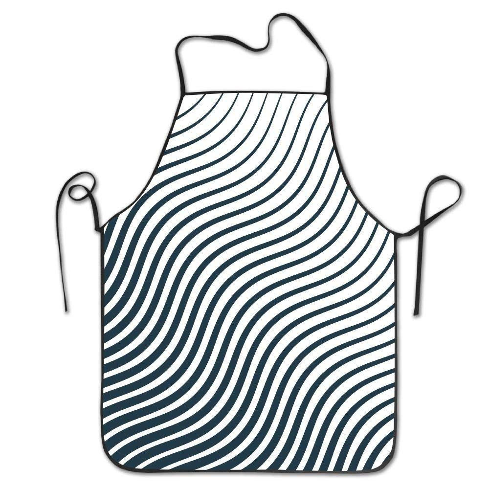 apnzll Minimal Pattern With Curvy Lines Sewing Apron Personalized Aprons Chef Aprons Work Aprons 100% Polyester Aprons