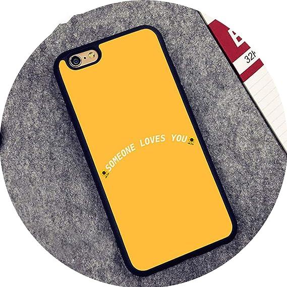 on sale fbc63 e2752 Amazon.com: crazy-shop Yellow Aesthetic Art Soft Rubber Phone Cases ...