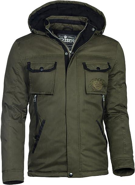 Trisens Herren Winter Jacke Military Style WASSERDICHT Parka Army Mantel