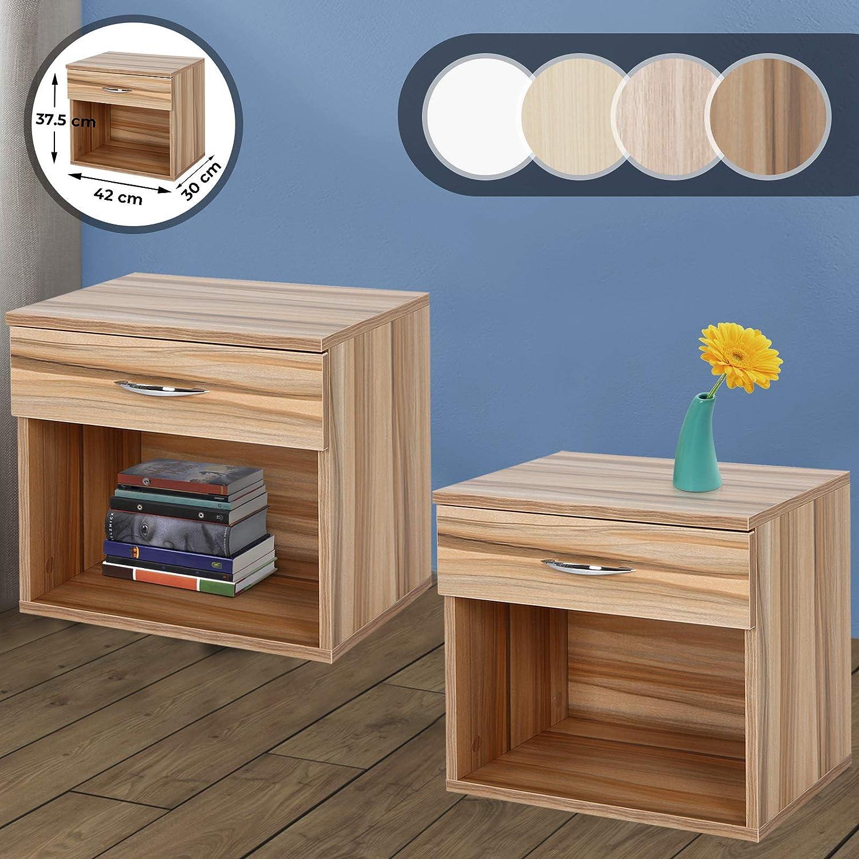 1 pièce Miadomodo Table de chevet avec 1 tiroir et espace de