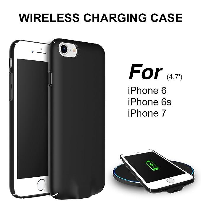 Hoidokly Funda iPhone Qi Receptor Wireless Charging Receiver Case Cargador Inalambrico para iPhone 6s / iPhone 6 - 4,7 Pulgadas