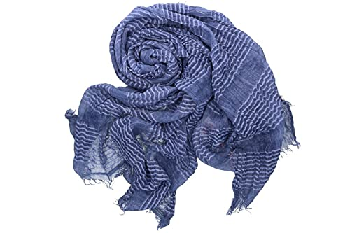 Sciarpa donna uomo ROMEO GIGLI blu pashmina con frange box confezione