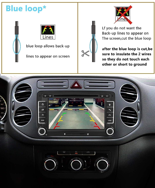 Backup Camera Waterproof Rear-View Rear Reverse Parking Camera for Audi A4 B6 B8 VW//Jetta//Jetta SE//Jetta MK6 //TIGUAN//Touareg//Passat B5//B6//B7,Passat 3C B7 Sharan//Touran