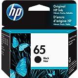HP 65 | Ink Cartridge | Black | Works with HP DeskJet 2600 Series, 3700 Series, HP ENVY 5000 Series, HP AMP 100, 120, 125, 13