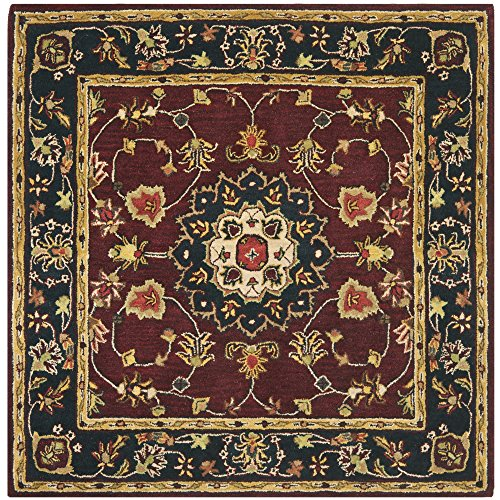UPC 683726700210, Safavieh Classic Collection CL362A Handmade Traditional Oriental Burgundy and Navy Wool Square Area Rug (6' Square)